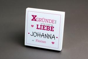 X-GRÜNDE warum ich dich liebe