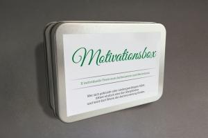 Motivations-Box mit X Phiolen