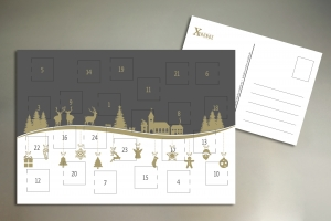 Adventskalender Postkarte